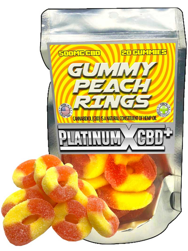 Gummy Peach Rings | CBD Gummies